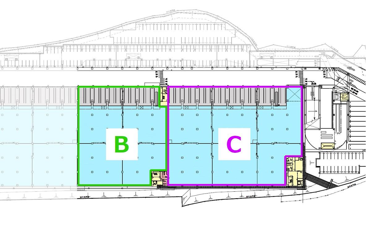 賃貸区画:1階/B区画・C区画(2021年7月現在)